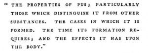 A dissertation on pus