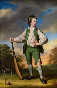 Young  man with cricket bat