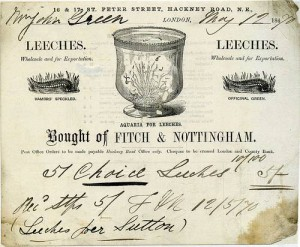 Leeches_Reciept_London_1870