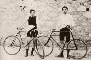 Two racing cyclists