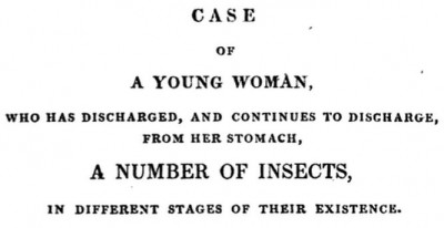 Case of a young woman who discharged insects from her stomach