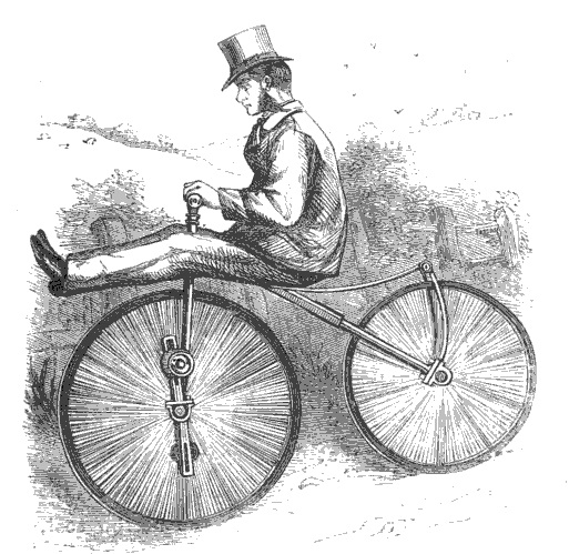 cyclist in top hat