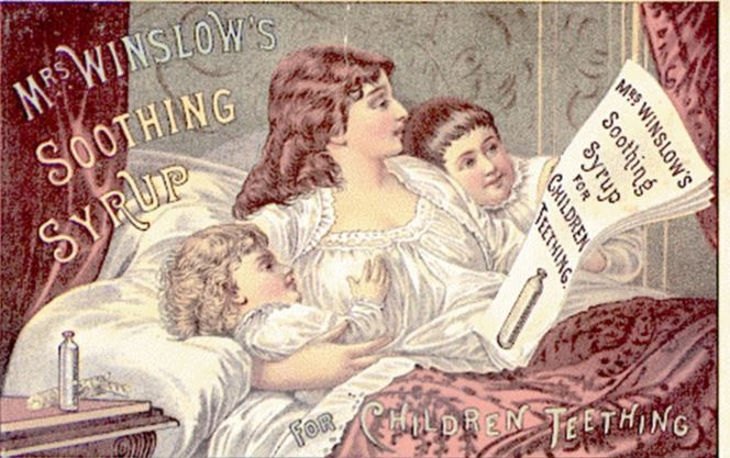 Mrs Winslow's soothing syrup advertisement