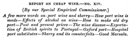 Report on cheap wine