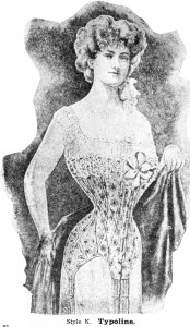 corset-wearing woman