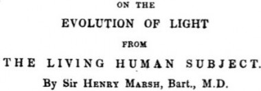 On the evolution of light in the human subject