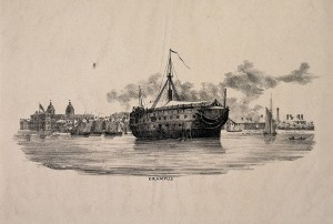 HMS Grampus. Wellcome Images, licensed under http://creativecommons.org/licenses/by/4.0/