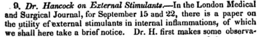 External stimulants
