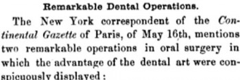 dental operations