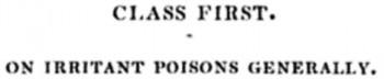 of irritant poisons