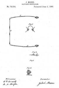 Galvanic spectacles patent