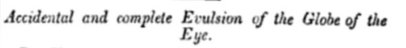 Evulsion of eye