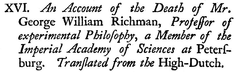 Death of Professor William Richman