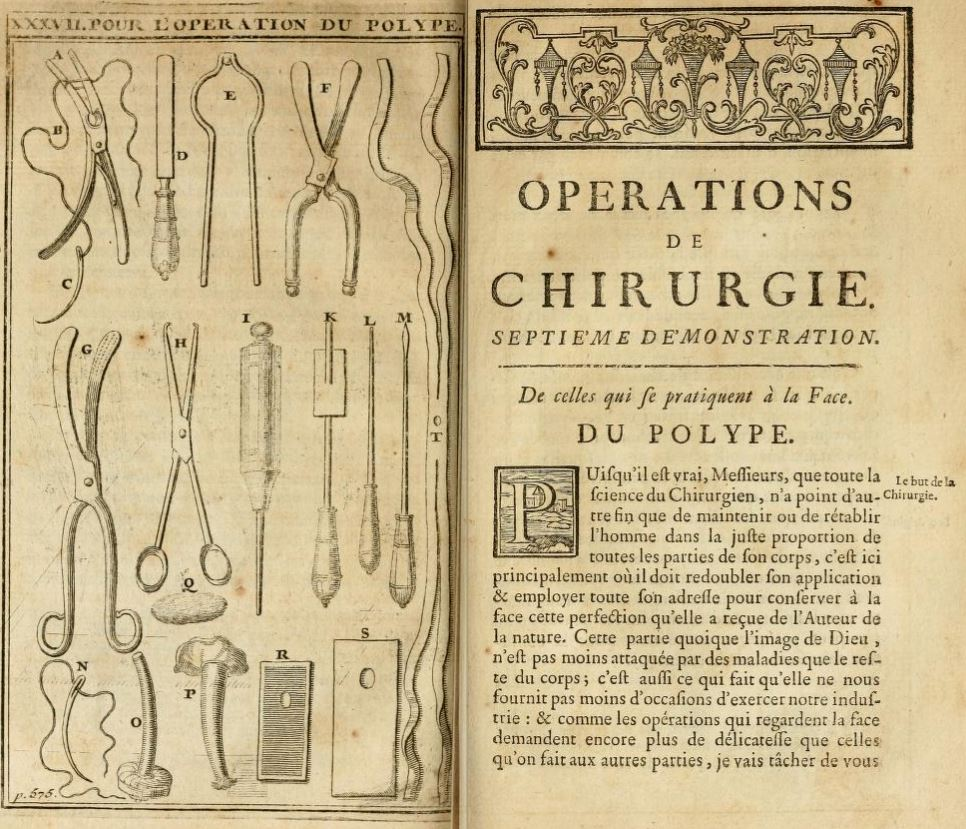 Pierre Dionis Operations de Chirurgie