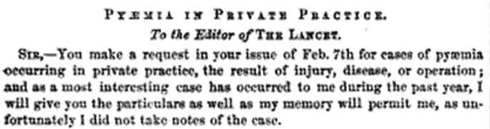 pyaemia in private practice