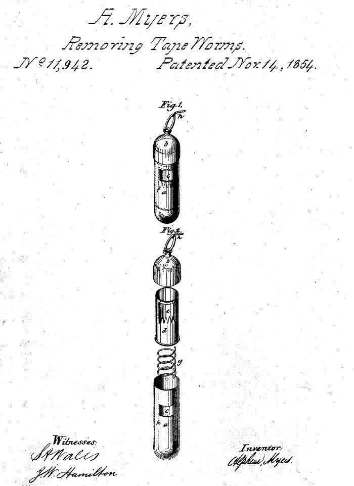 Tapeworm trap patent
