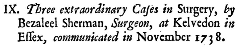 Three extraordinary cases in surgery