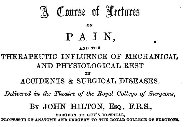 A course of lectures on pain