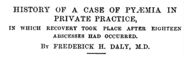 History of a case of pyaemia