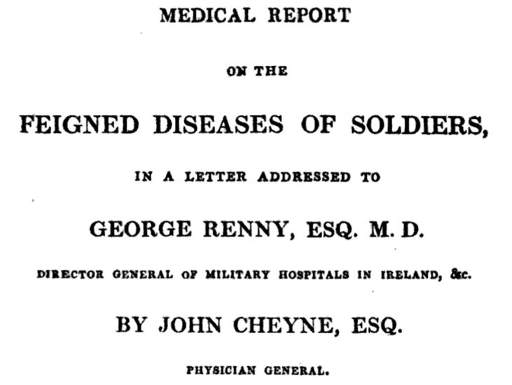 Feigned diseases of soldiers