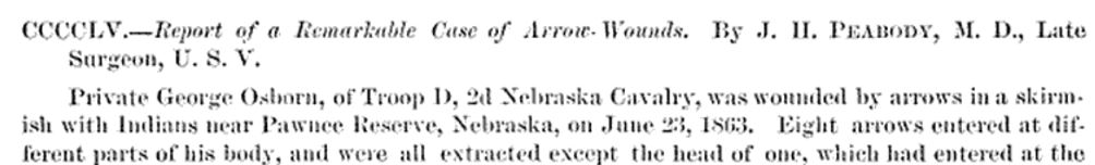 Case of extraordinary arrow wounds