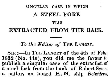 singular case of a steel fork