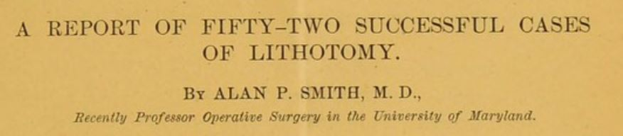 52 successful cases of lithotomy