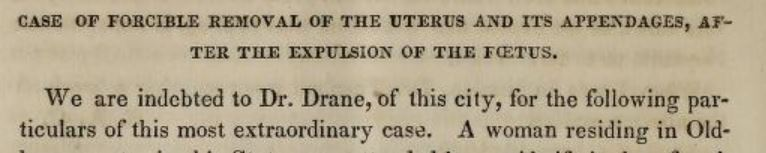 Forcible removal of the uterus