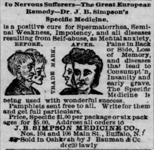 spermatorrhea advertisement
