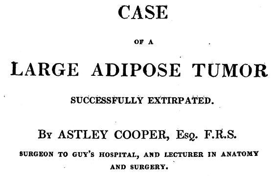 Case of a large adipose tumour