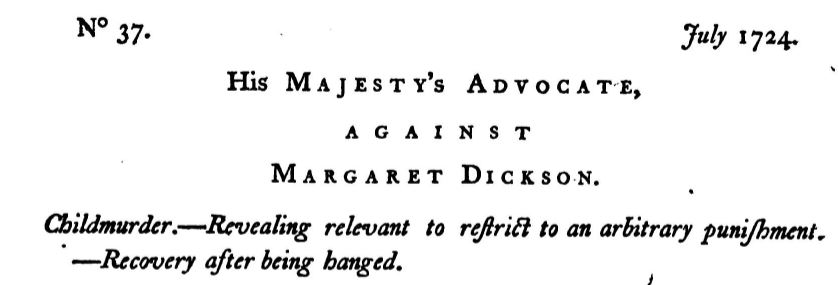 Trial of Margaret Dixon