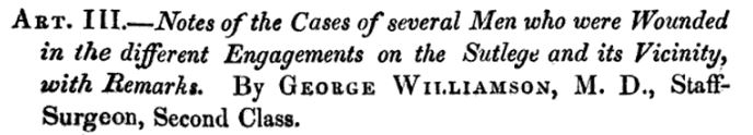 George Williamson cases