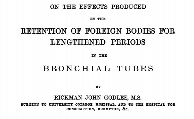 Foreign bodies in the bronchus