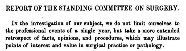 Report of the standing committee on surgery