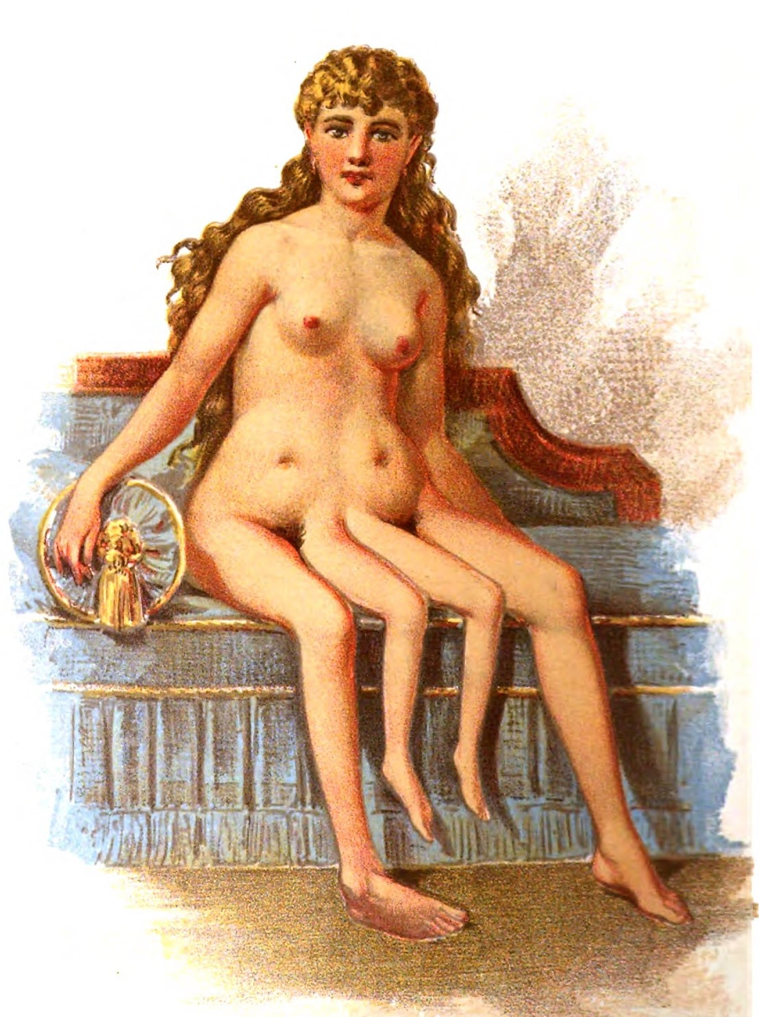 Myrtle as an adult, naked