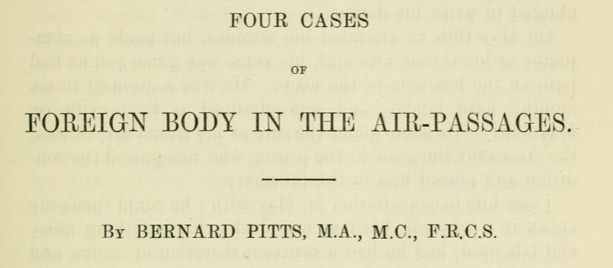 Four cases of foreign body in the air passages